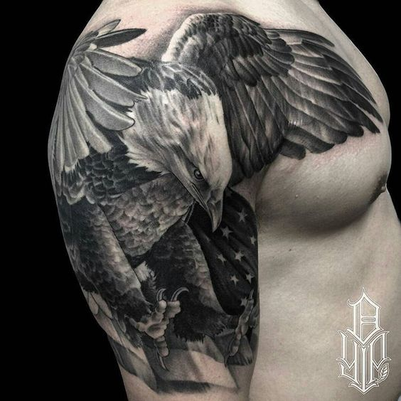 Animal Tattoo ideas for men, eagle