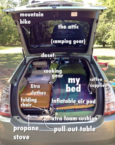 View Of A Bed From The Driver S Seat Prius Camper Car Ideas