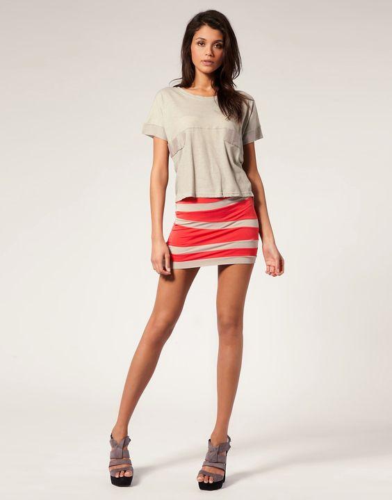 Image 1 ofASOS Contrast Panel Mini Skirt
