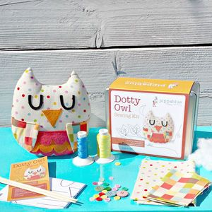 Dotty Owl Sewing Kit - woodland trend