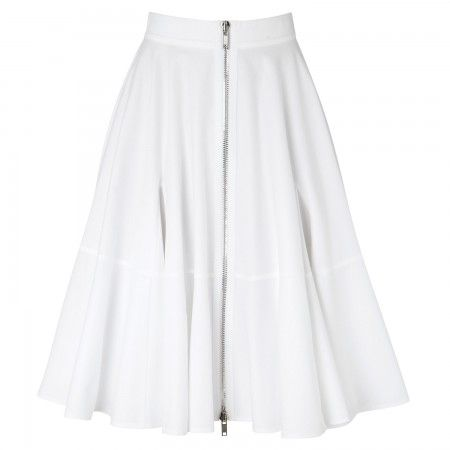 Givenchy Flared piqué stretch cotton skirt