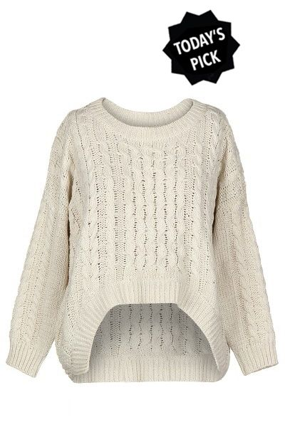 TODAY'S PICK is Cream cable knit sweater.. Warm and perfect! Grab ...