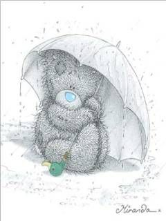 Tatty Bear in the rain with umbrella http://gallery.mobile9.com/f/174357/: