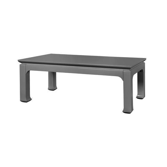 Bungalow 5 Harlow High Gloss Coffee Table In Gray