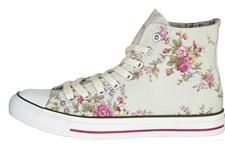 sweet! Cath Kidston - Washed Roses High Top Plimsolls