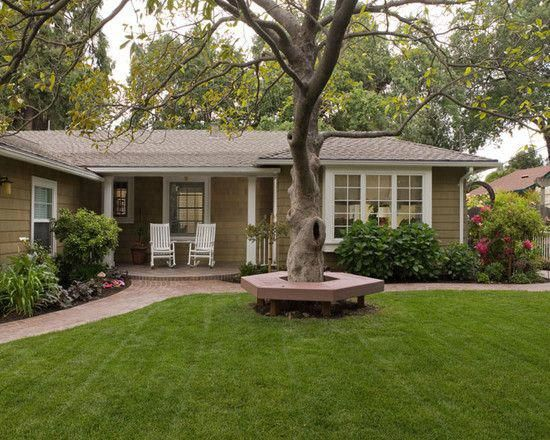 Exterior Mid Century Modern Ranch Hip Roof Design Pictures