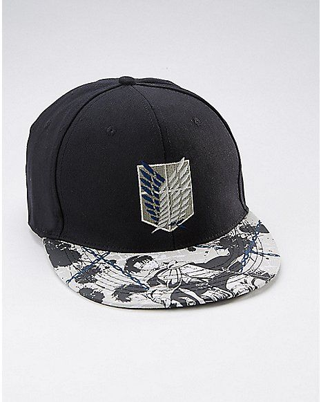 Levi & Eren Attack on Titan Snapback Hat - Spencer's