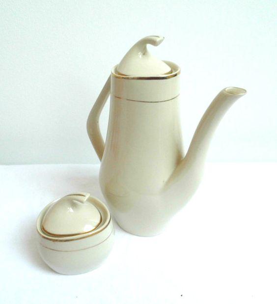 Vintage Chodziez Poland Fine Porcelain Coffee Tea by WoodHistory