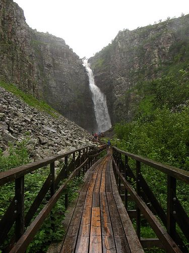 Njupeskär, Sweden's highest waterfall, is located in Fulufjället National Park. Just four hours away from Sundsvall!