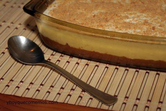 Una rica tarta denata sin necesidad de horno. Receta de Tarta portuguesa: Ingredientes: Galletas María Nata Leche condensada Gelatina neutra Mantequilla E
