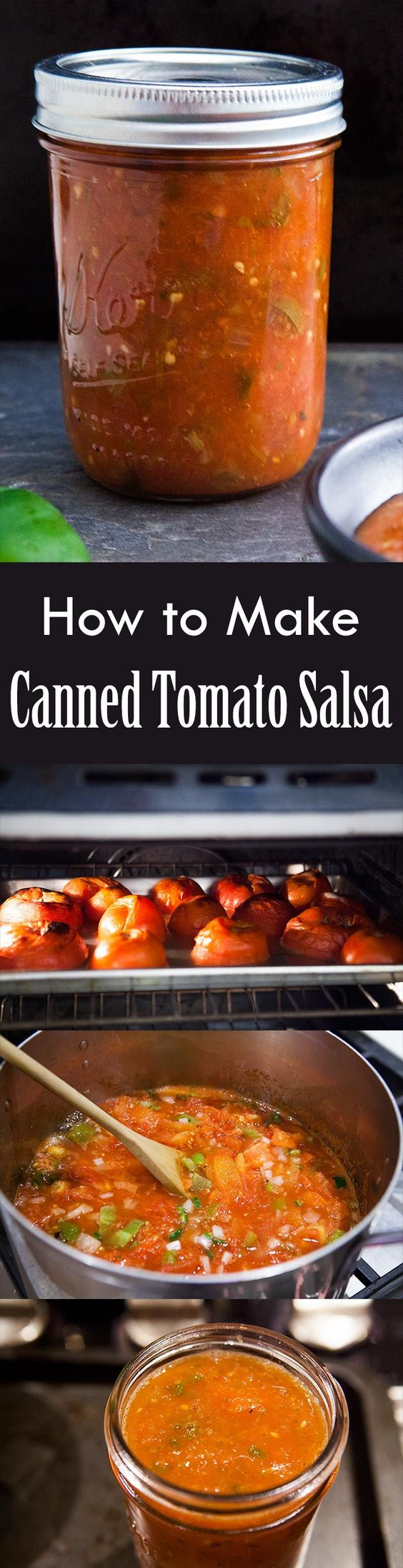 ... start with canned tomato salsa herbs fresh canning recipe chile salsa