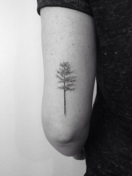 Tree on back arm by Lara M.J.: