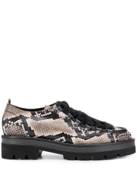 Kennel Schmenger Snakeskin Kennelschmenger Shoes Snake Skin Brogues Grey Leather