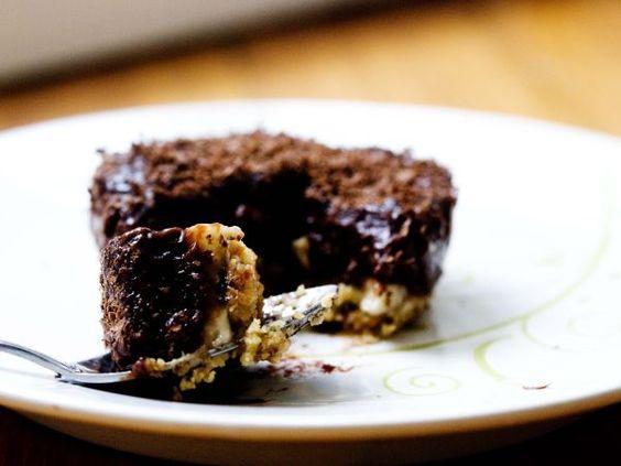 Tortino al budino di cioccolato e banana