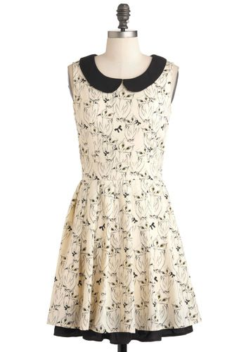 It's Hoot You Know Dress, #ModCloth - I like the delicate lines in the dress. Whimsical but not overstated.