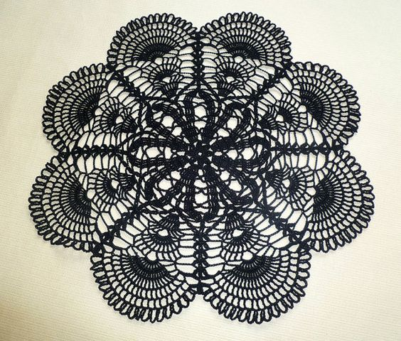 Black doilies by Loren Ver on Etsy