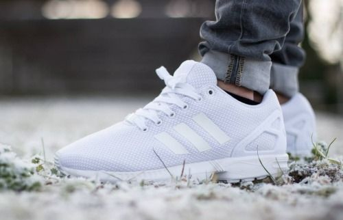 save off 8a0f6 85cc6 adidas originals zx flux triple white