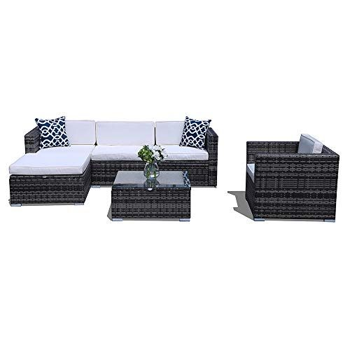 Super Patio Outdoor Patio Furniture Set 6 Piece All Weather Resistant Outdoor Conversation Sets Wi Outdoor Sectional Furniture Patio Sofa Set Patio Sectional