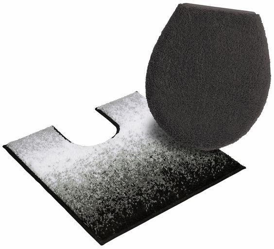 Details:  Farbverlauf, Melange-Effekt, Ringsum eingefasst, gekettelt,  Qualität:  1,8 kg/m² Gesamtgewicht (ca.), 17 mm Gesamthöhe (ca.), Waschbar bei 40°C, Latexierter Rücken, Trocknergeeignet,  Flormaterial:  100 % Polyacryl,  Wissenswertes:  WC-Deckel im 2-tlg. Set ist mit eingefasster Befestigungsschnur, Das 2-tlg. Set besteht aus einer Matte 48/48 cm und einem WC-Deckel-Bezug,  ...