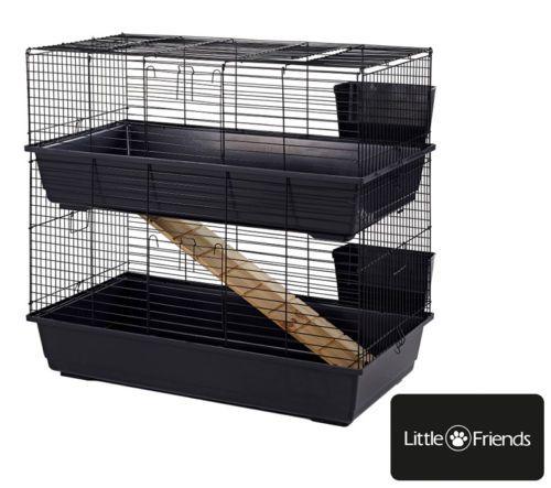 details about large indoor double decker rabbit guinea pig