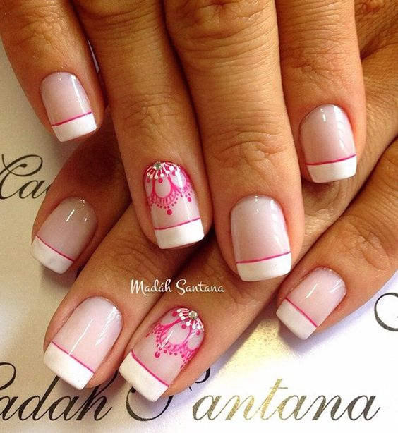 Nail Polish Tips: French Manicures, Nail Art Ideas And Design On Pinterest