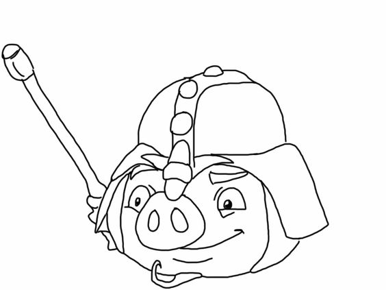 Angry birds epic coloring page - knight pig   My Free ...