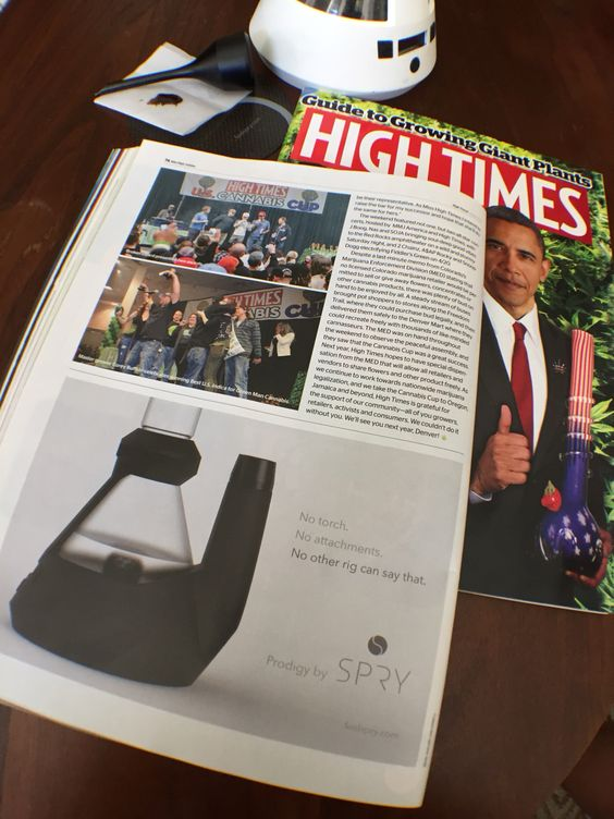 First ad in High Times magazine. #ObamaApproved  #SpryProdigy #710 #highsociety
