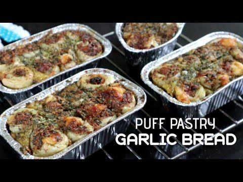 Puff Pastry Garlic Bread Rasanya Enak Bangeett Youtube Roti Garlic Memasak Puff Pastry