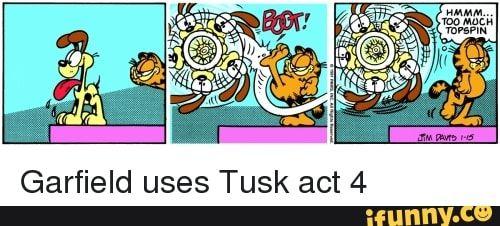 Garfield Uses Tusk Act 4 Ifunny Jojo S Bizarre Adventure Jojo Bizzare Adventure Garfield