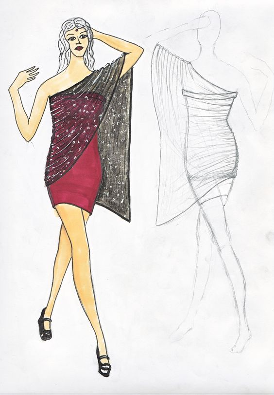 My latest dress design...will post a pic of the actual dress when complete!