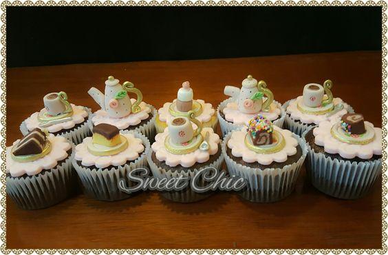 Cupcakes tema chá