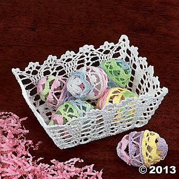 Crocheted Eggs & Basket