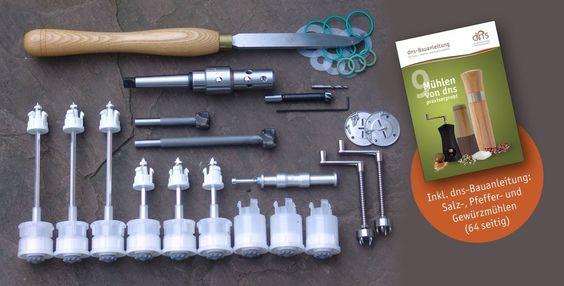 dns-Mühlen-Komplettset, MK2, 11 Mahlw. + Werkzeug, PV 17,5%
