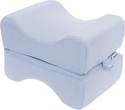 Mindful Design Cooling Memory Foam Knee Pillow For Side Sleepers