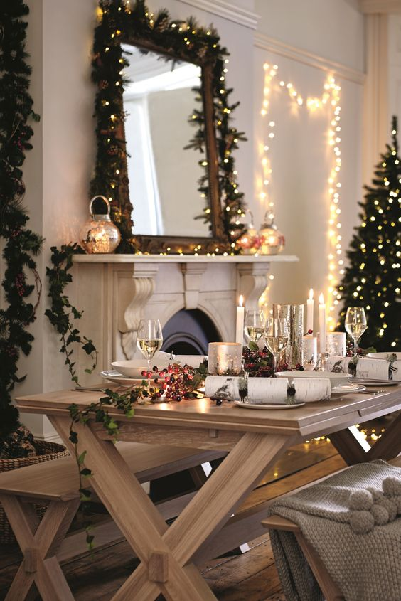 Christmas is all about decorating your home with festive joy, sparkly lights, garlands and wreaths.: