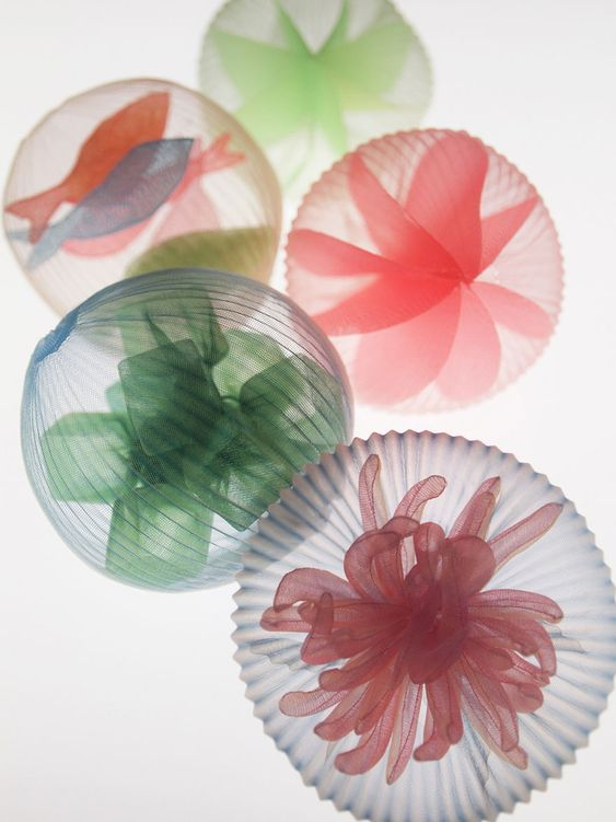 Sea-Inspired Jewelry Made From Translucent Fabric By Japanese Artist   Bored Panda#topcategories: