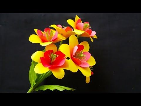 How To Make Flowers In Paper Easy Paper Craft Flower Stick Dear