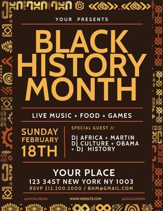 Pin By Jada Shipp On Invitations Black History Month Quotes Black History Month Flyer Template