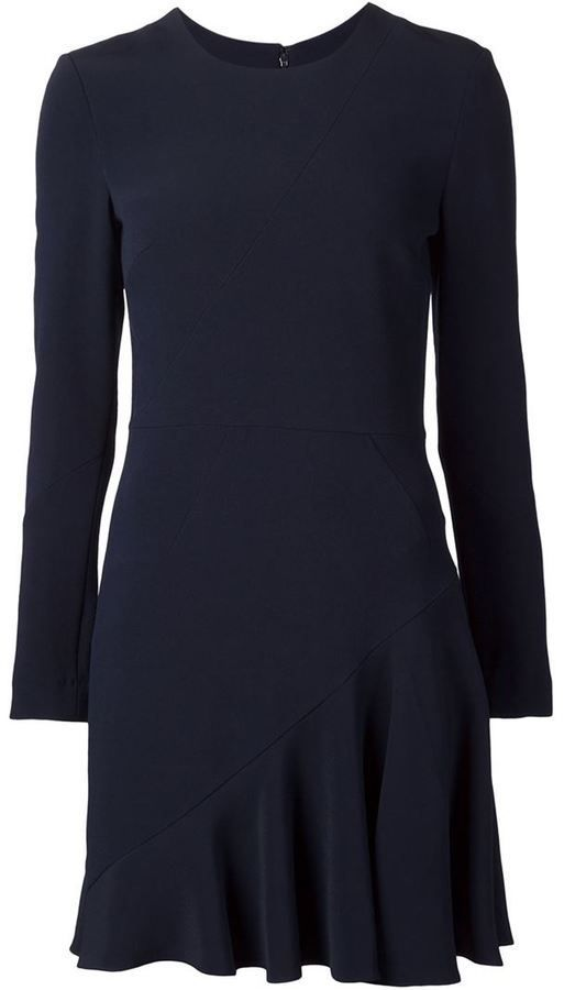 $897, Cushnie et Ochs Ruffled Hem Dress. Sold by farfetch.com. Click for more info: https://lookastic.com/women/shop_items/338869/redirect