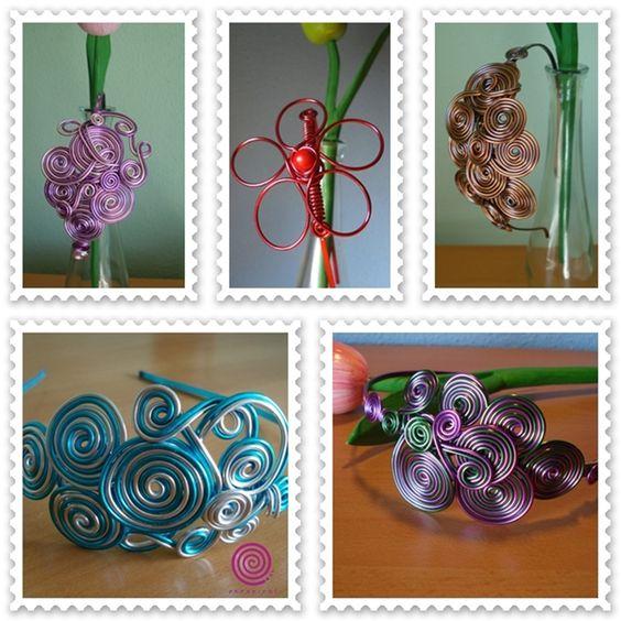 De Tacones y Bolsos: enespiral, artesanía con hilo de aluminio, piedras naturales, murano y cerámica.: Enespiral Artesanía, Crafts With, Wire, Artesanias Roka, Jewelry