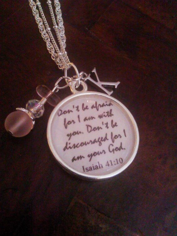 Isaiah 41:10 personalized graduation necklace
