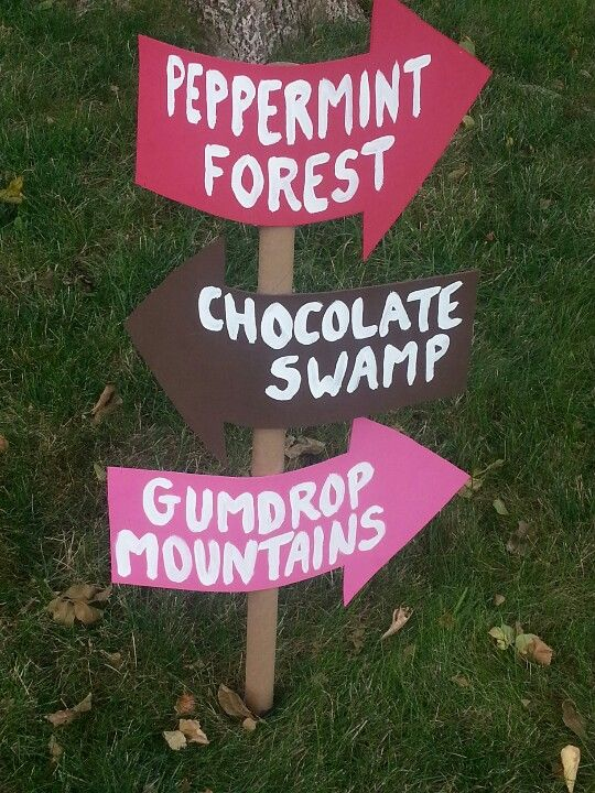 Some Of The Candyland Signs That Were Outside Halle And