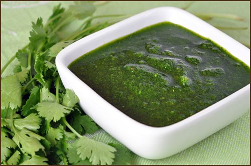 Rick Bayless' Mexican Chimichurri - smear it on chicken before grilling or roasting, stir it into scrambled eggs, or add it to salad dressing and cream sauces