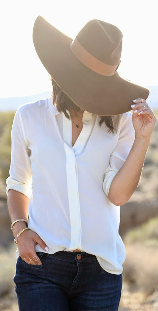 Preston & Olivia Camel Large Floppy Hat. Simple casual style