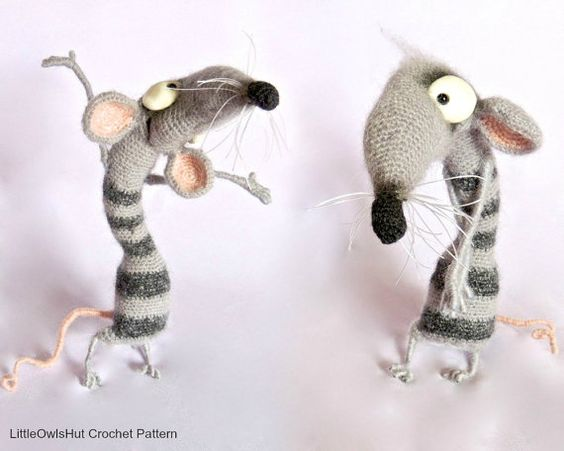 Wire Soul Amigurumi : 090 Funny Rat Serafima with wire frame - Amigurumi Crochet ...
