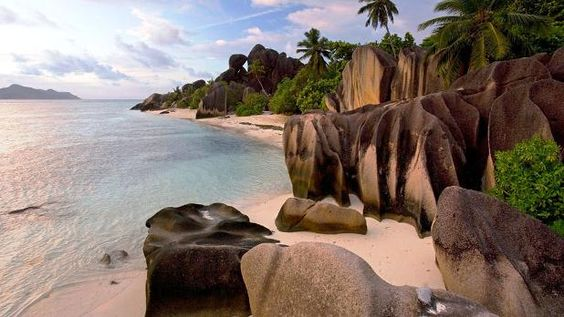 Petite Anse on La Digue Island is a long beach, which is located just next to the famous Grand Anse beach.: