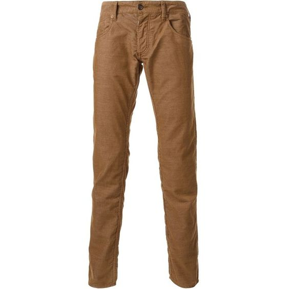 ARMANI JEANS corduroy slim fit trousers (460 BRL) ❤ liked on ...