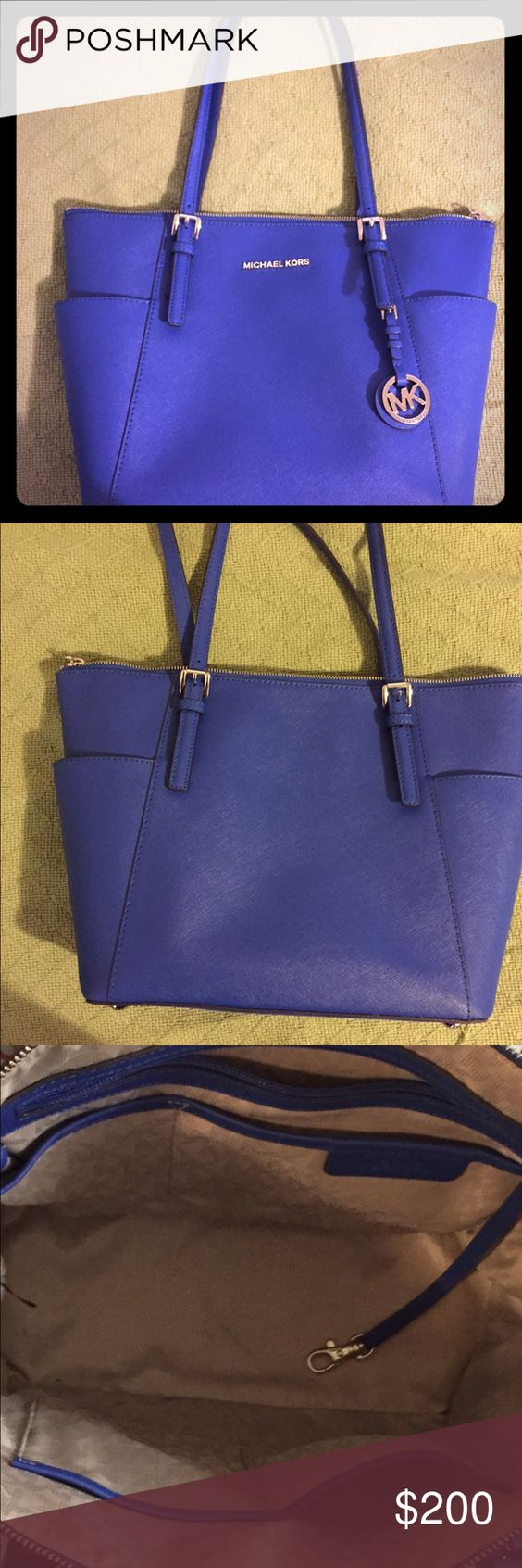 Michael Kors Jet Set Large Zip Tote Sleek Leather Tote in Great condition. Some minor pen marks on the inside. MICHAEL Michael Kors Bags Totes