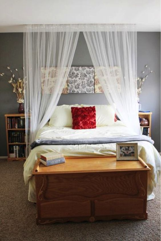 Curtain Over Bed Canopies And Beds On Pinterest