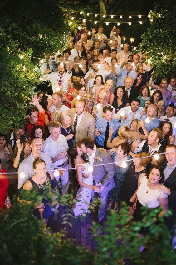 birdseye wedding photo